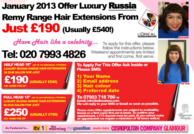 Belle salon xmas offer main190 020 7993 4826 belle for Beauty salon xmas offers