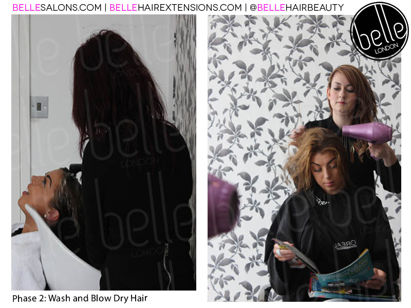 Stage 2 Wash And Blow Dry 020 7993 4826 Belle Salons London